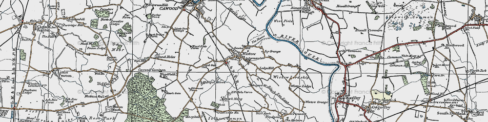 Old map of Wistow in 1924