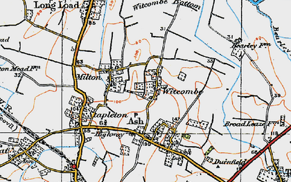 Old map of Witcombe in 1919