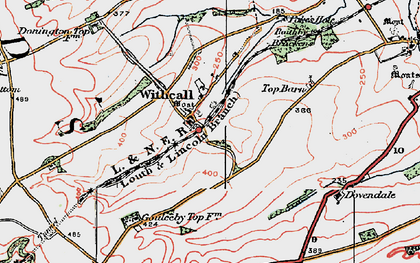 Old map of Withcall in 1923