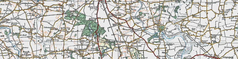 Old map of Withergate in 1922