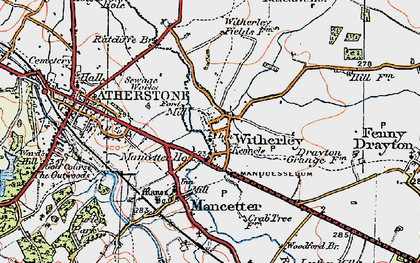 Old map of Witherley in 1921