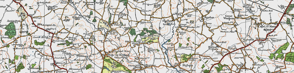 Old map of Withermarsh Green in 1921