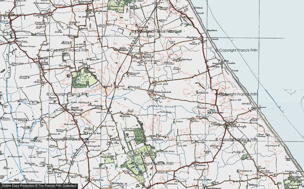 Old Map of Withernwick, 1924 in 1924
