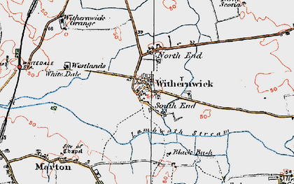 Old map of Withernwick in 1924