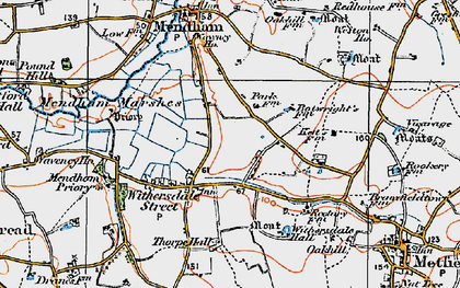 Old map of Withersdale Street in 1921