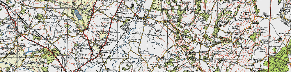 Old map of Withersdane in 1921
