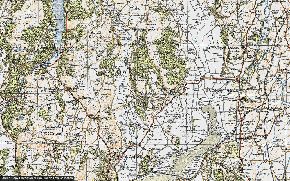 Old Map of Historic Map covering Askew Green in 1925