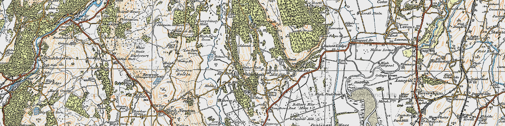 Old map of Witherslack Hall (Sch) in 1925