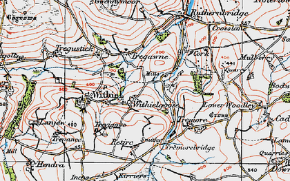 Old map of Withielgoose in 1919