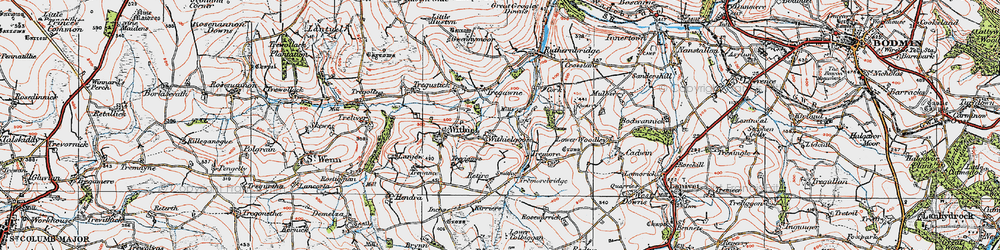 Old map of Withielgoose Mills in 1919