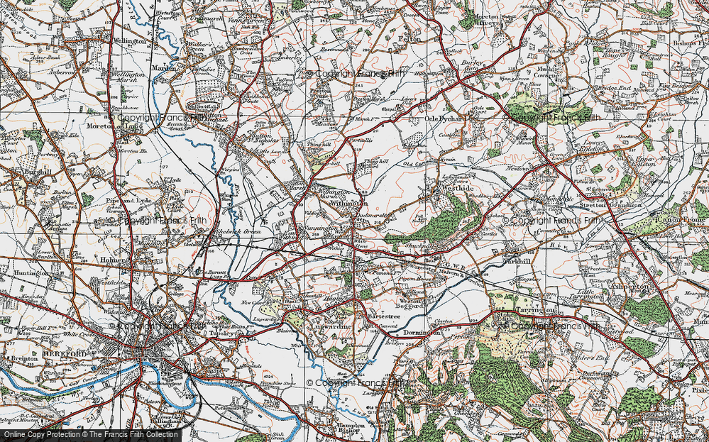 Old Map of Withington, 1920 in 1920