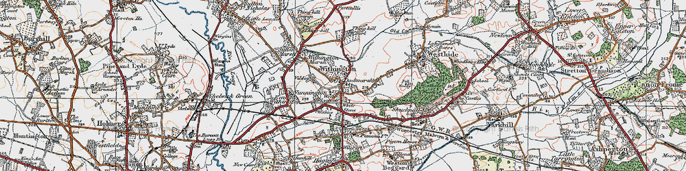 Old map of Withington in 1920