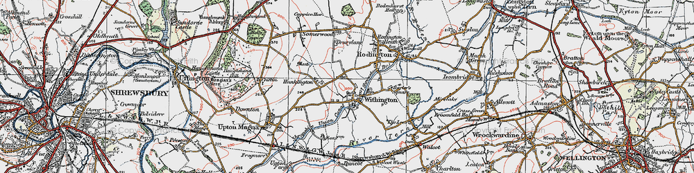Old map of Withington in 1921