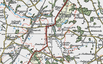 Old map of Withington Hall in 1923