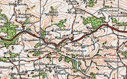 Old map of Withleigh in 1919