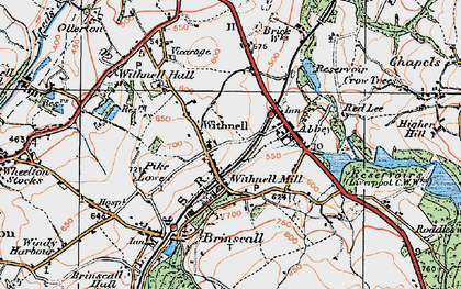 Old map of Withnell in 1924