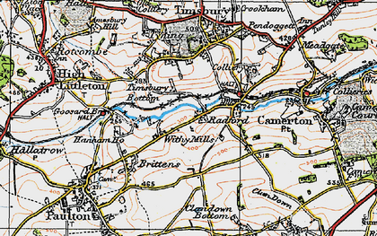 Old map of Withy Mills in 1919
