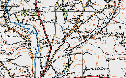 Old map of Withybush in 1922