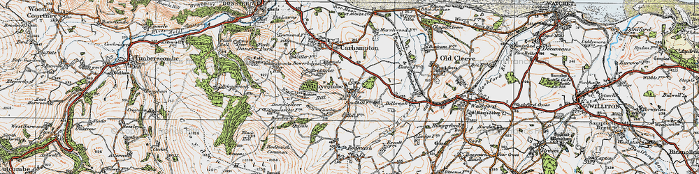 Old map of Withycombe in 1919
