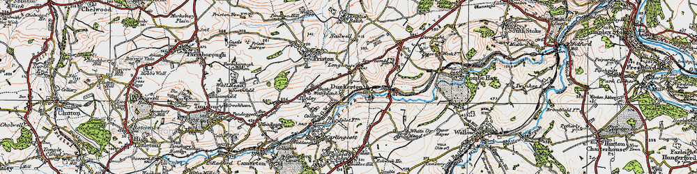Old map of Withyditch in 1919
