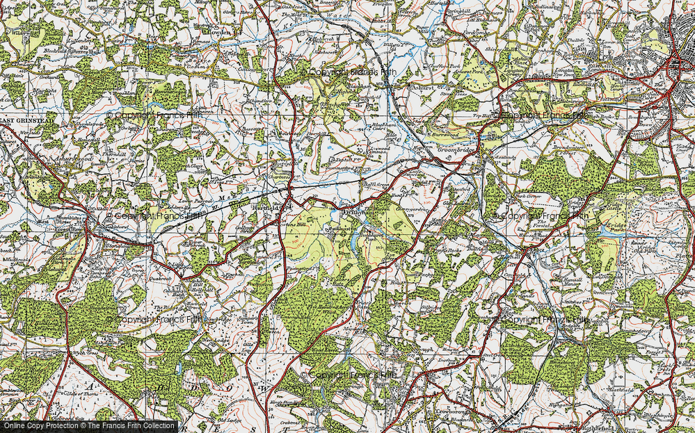 Old Map of Withyham, 1920 in 1920