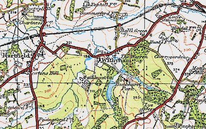 Old map of Withyham in 1920