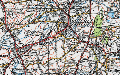 Old map of Withymoor Village in 1921