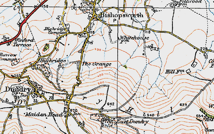 Old map of Withywood in 1919