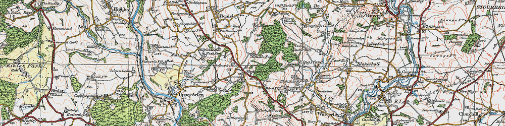 Old map of Witnells End in 1921