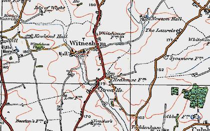 Old map of Witnesham in 1921
