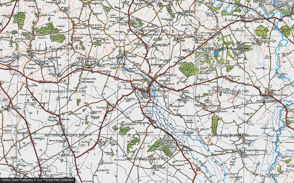 Old Map of Witney, 1919 in 1919