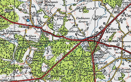 Old map of Wittensford in 1919