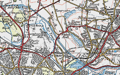 Old map of Witton in 1921