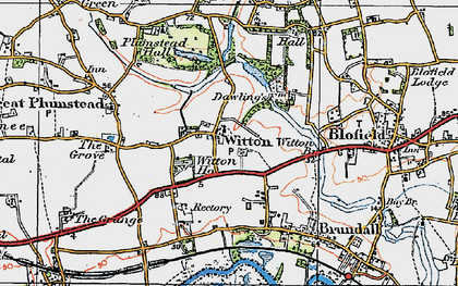 Old map of Witton Ho in 1922