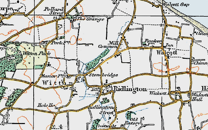 Old map of Witton Bridge in 1922