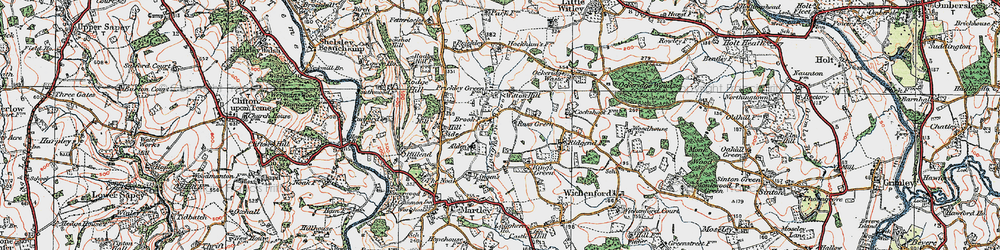 Old map of Witton Hill in 1920