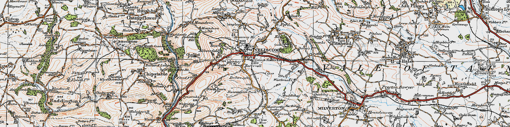 Old map of Wiveliscombe in 1919