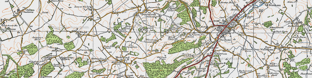 Old map of Wivelrod in 1919