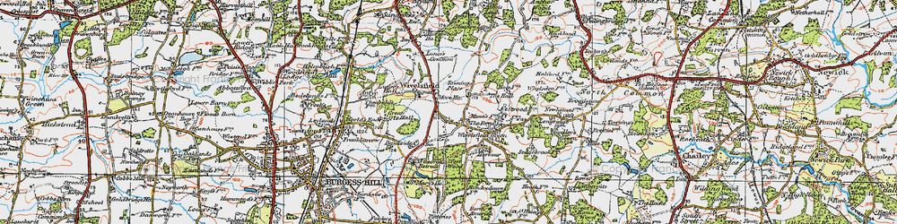 Old map of Wivelsfield in 1920