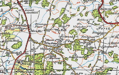 Old map of Wivelsfield Hall in 1920