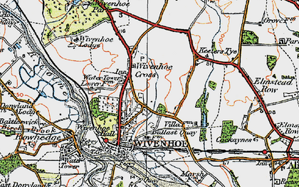 Old map of Wivenhoe in 1921