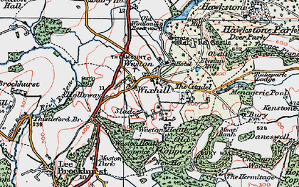 Old map of Wixhill in 1921
