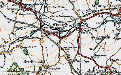 Old map of Wixoe in 1921