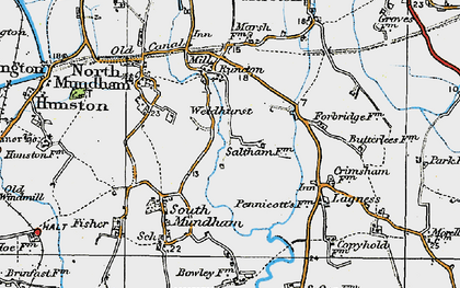 Old map of Woldhurst in 1919