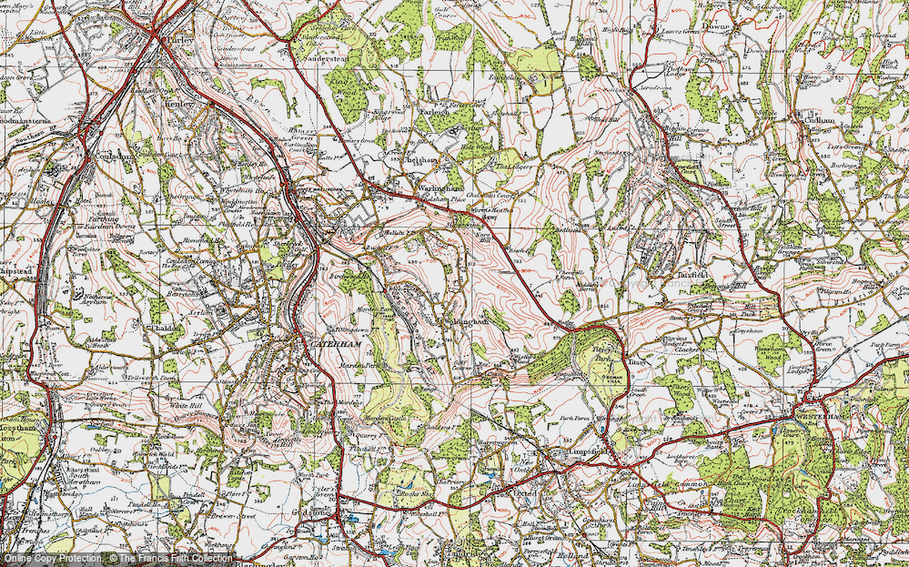 Old Map of Woldingham, 1920 in 1920