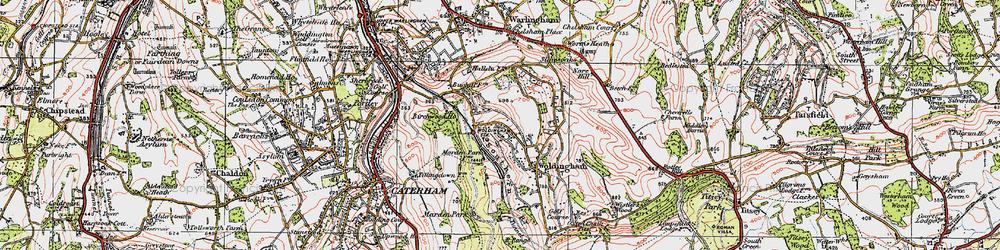 Old map of Woldingham Garden Village in 1920