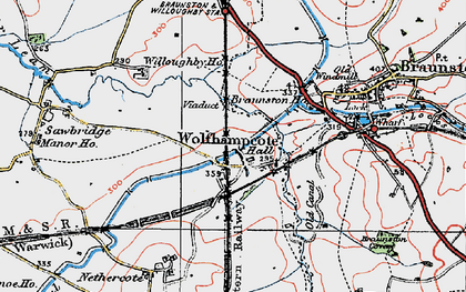 Old map of Wolfhampcote in 1919