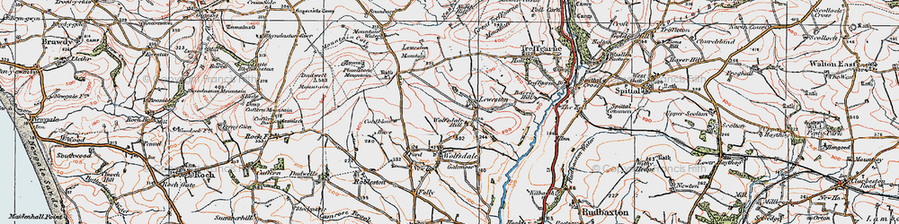 Old map of Wolfsdale Hill in 1922
