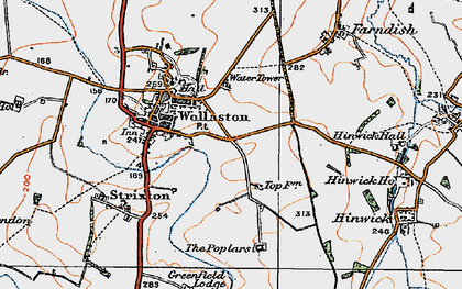 Old map of Wollaston in 1919