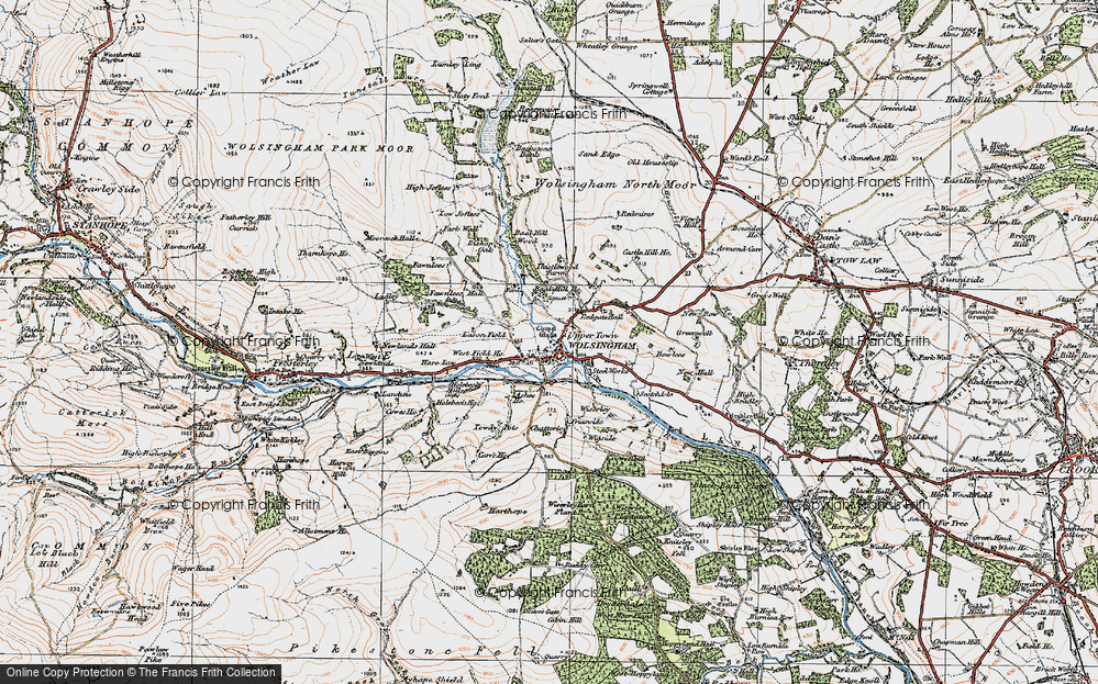 Old Map of Wolsingham, 1925 in 1925